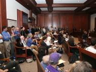 Capacity Crowd at Divestment Hearing